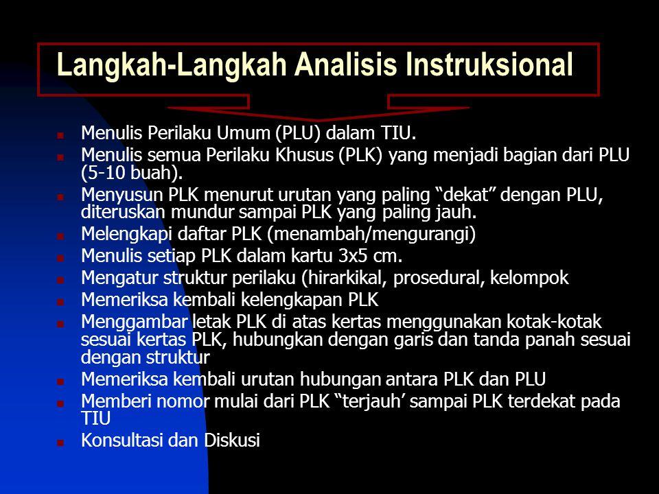 Langkah-Langkah Analisis Instruksional