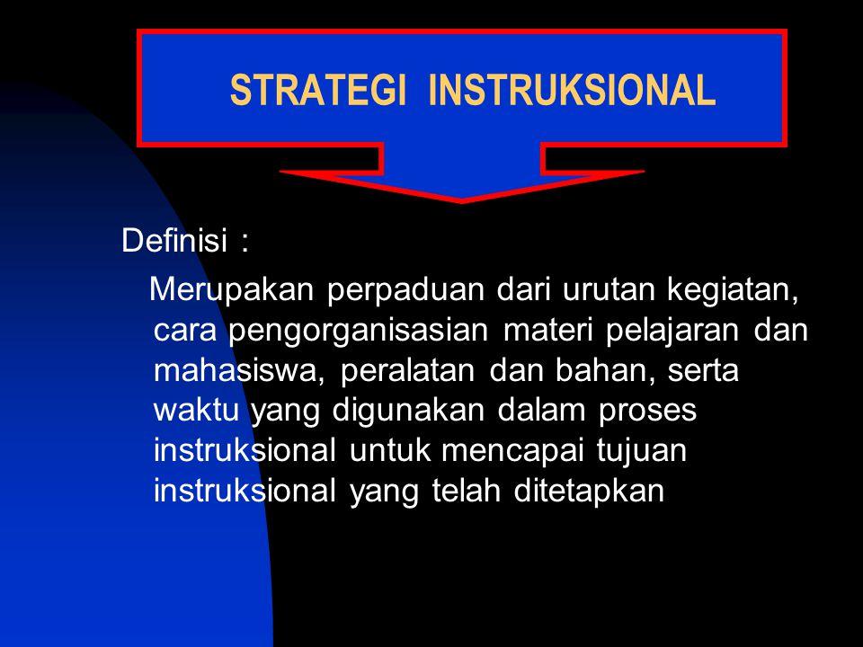 STRATEGI INSTRUKSIONAL