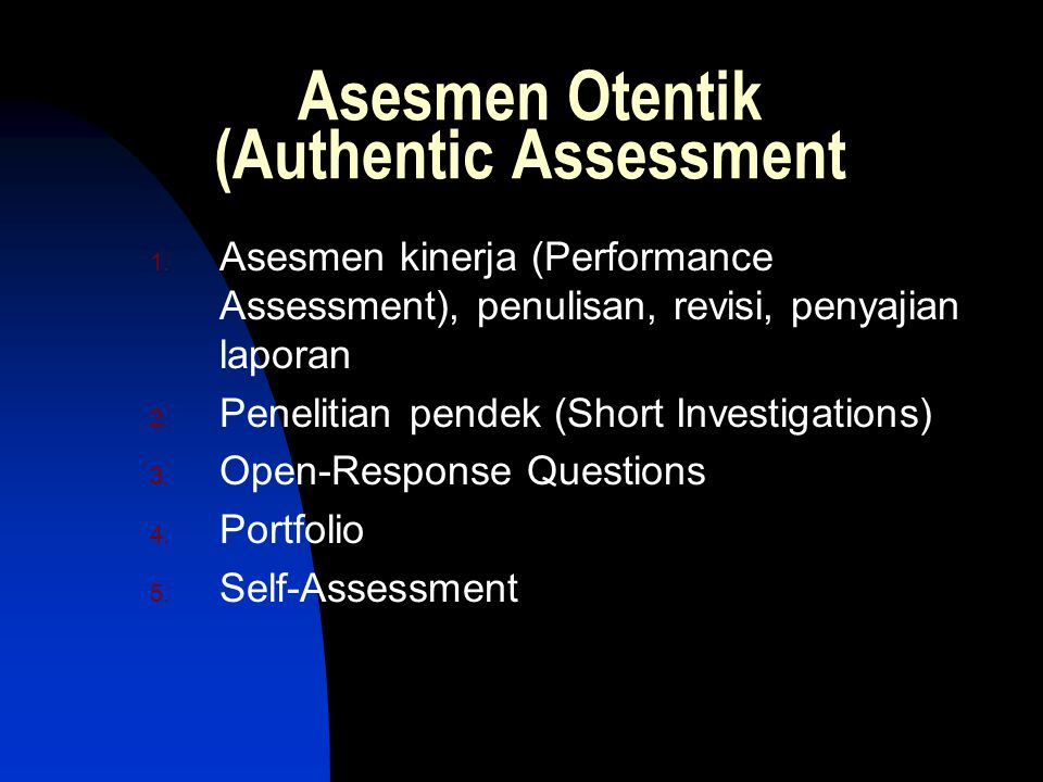 Asesmen Otentik (Authentic Assessment