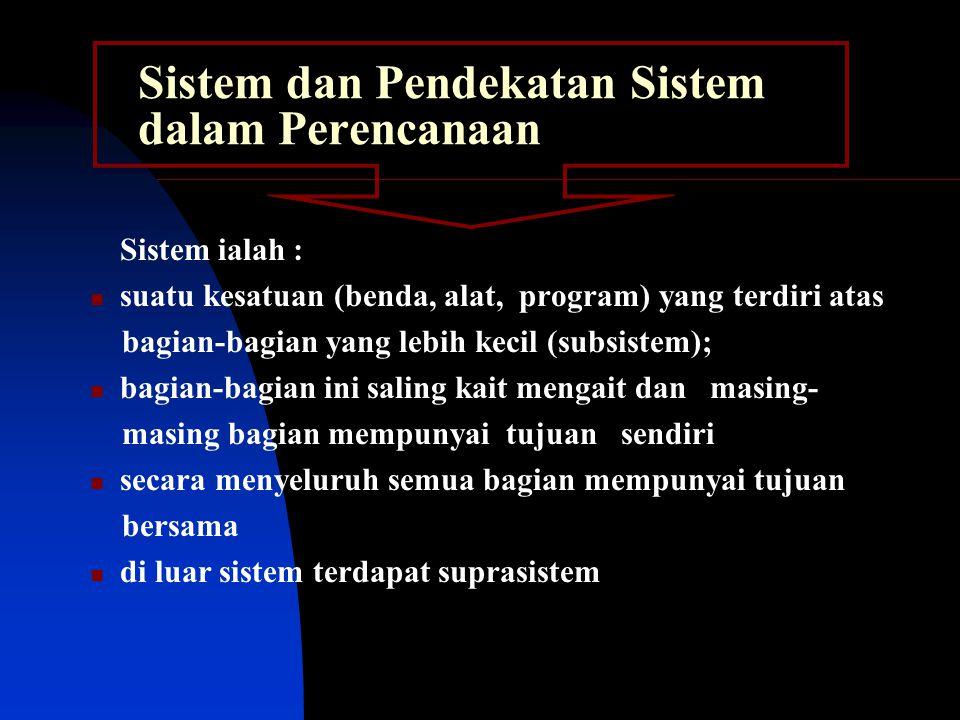 Sistem dan Pendekatan Sistem dalam Perencanaan