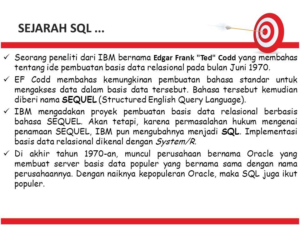 SEJARAH SQL ...