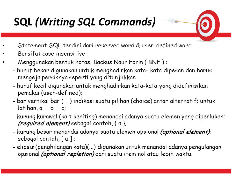 SQL (Writing SQL Commands)