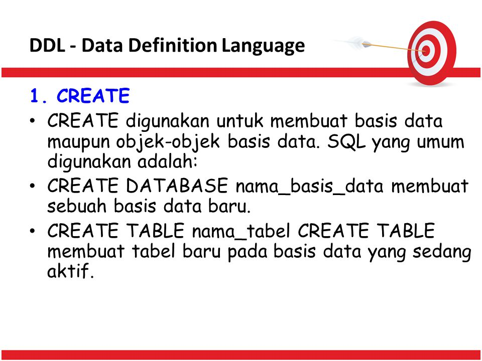 DDL - Data Definition Language