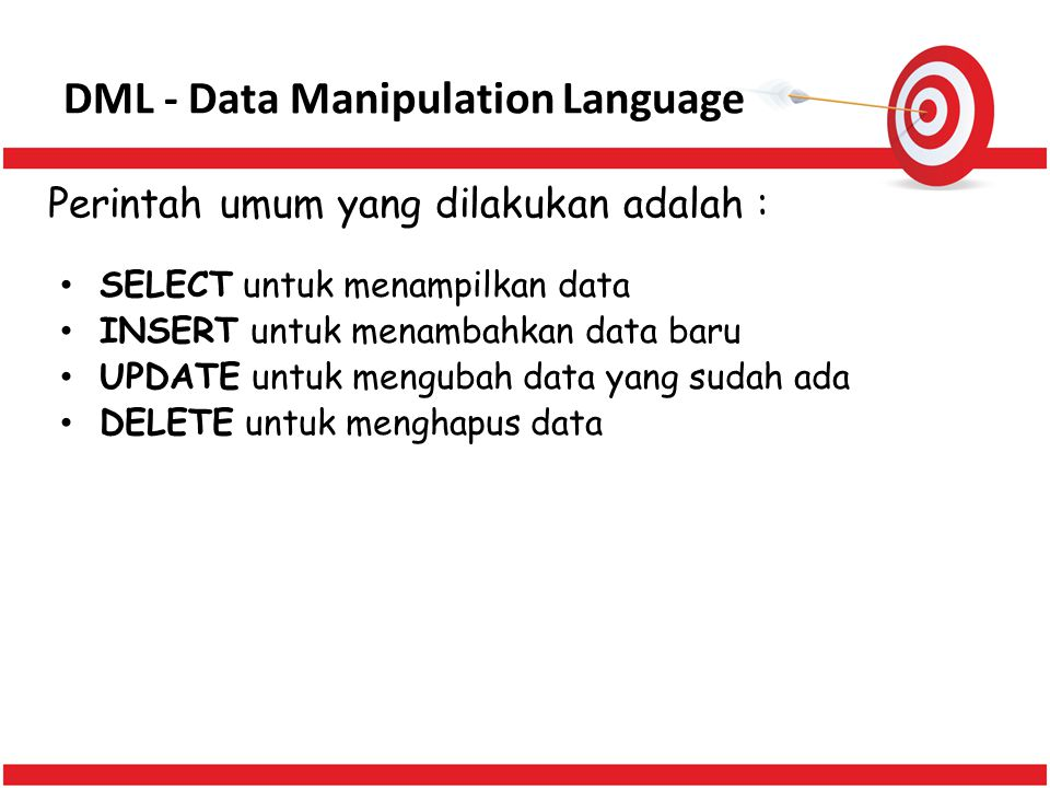 DML - Data Manipulation Language