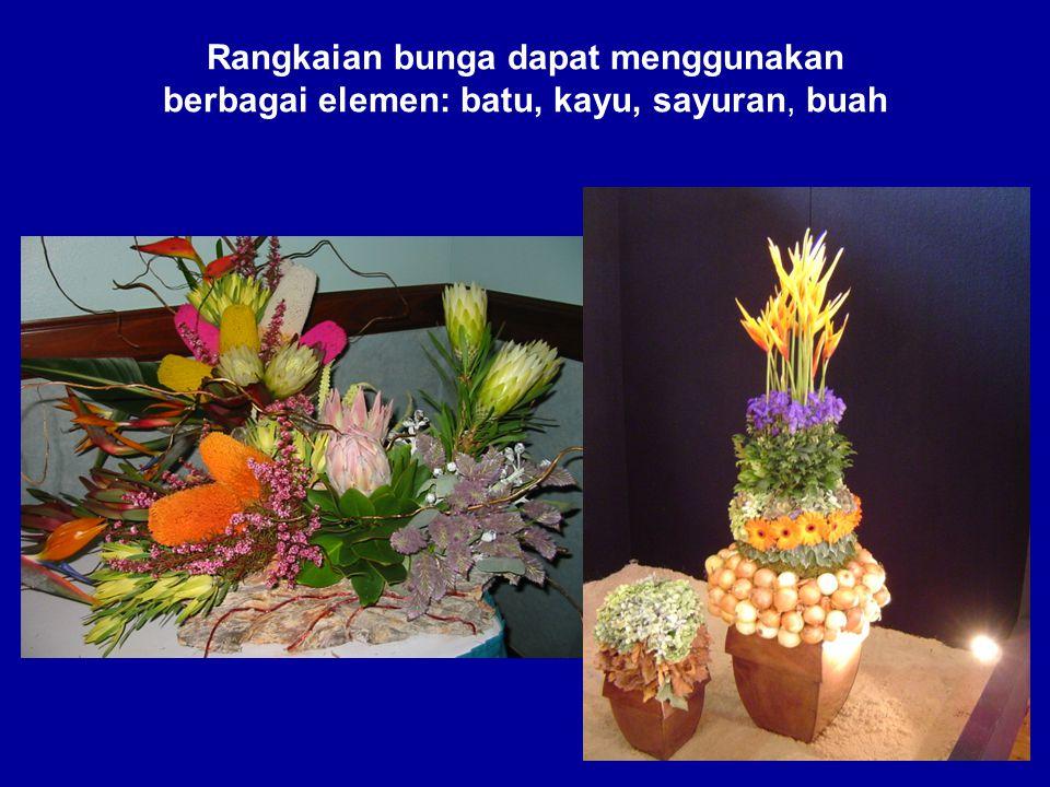 Rangkaian bunga dapat menggunakan