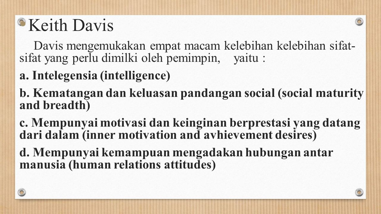 Keith Davis a. Intelegensia (intelligence)