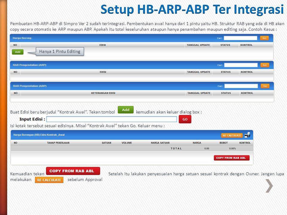 Setup HB-ARP-ABP Ter Integrasi