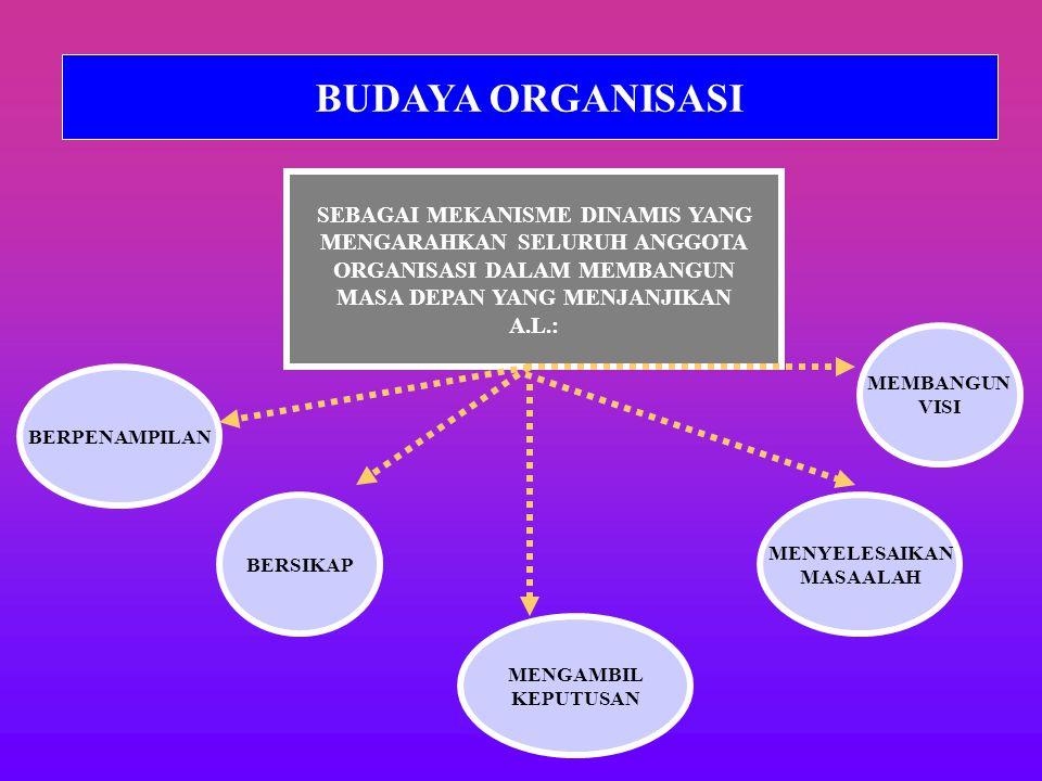 BUDAYA ORGANISASI SEBAGAI MEKANISME DINAMIS YANG