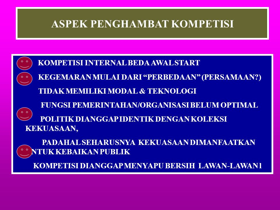ASPEK PENGHAMBAT KOMPETISI