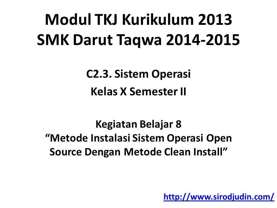Modul TKJ Kurikulum 2013 SMK Darut Taqwa 2014-2015