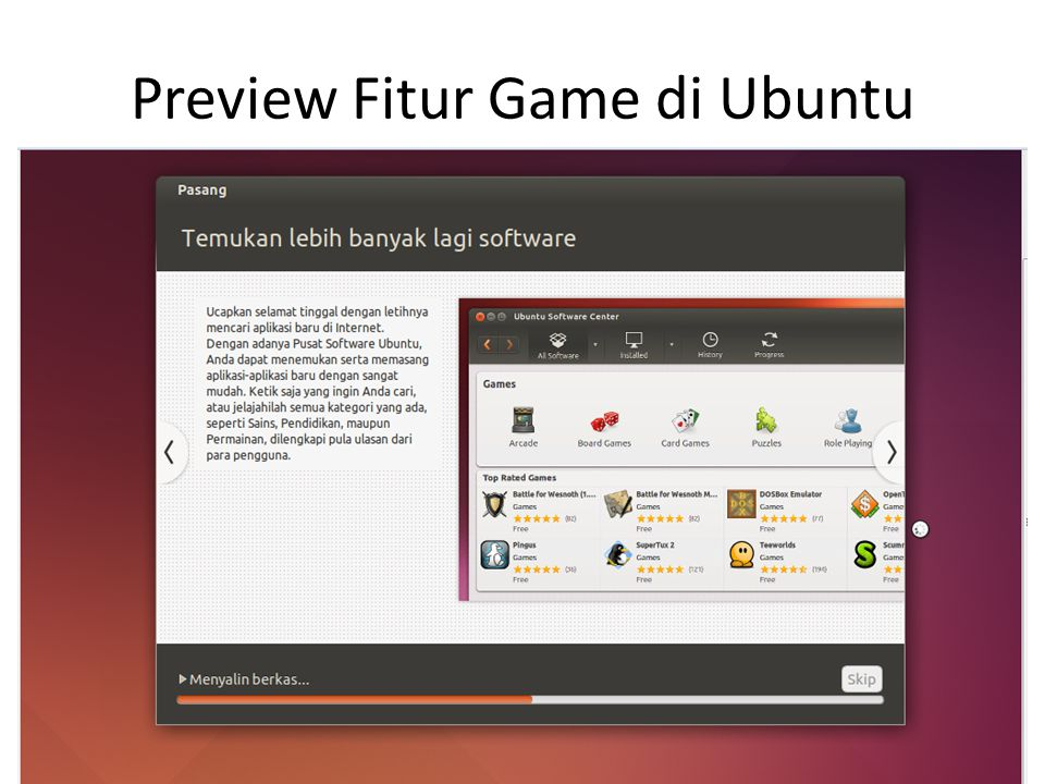 Preview Fitur Game di Ubuntu