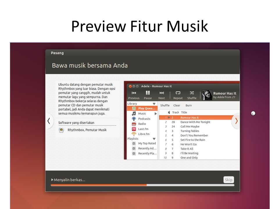 Preview Fitur Musik