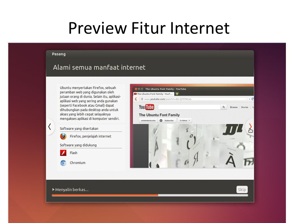 Preview Fitur Internet