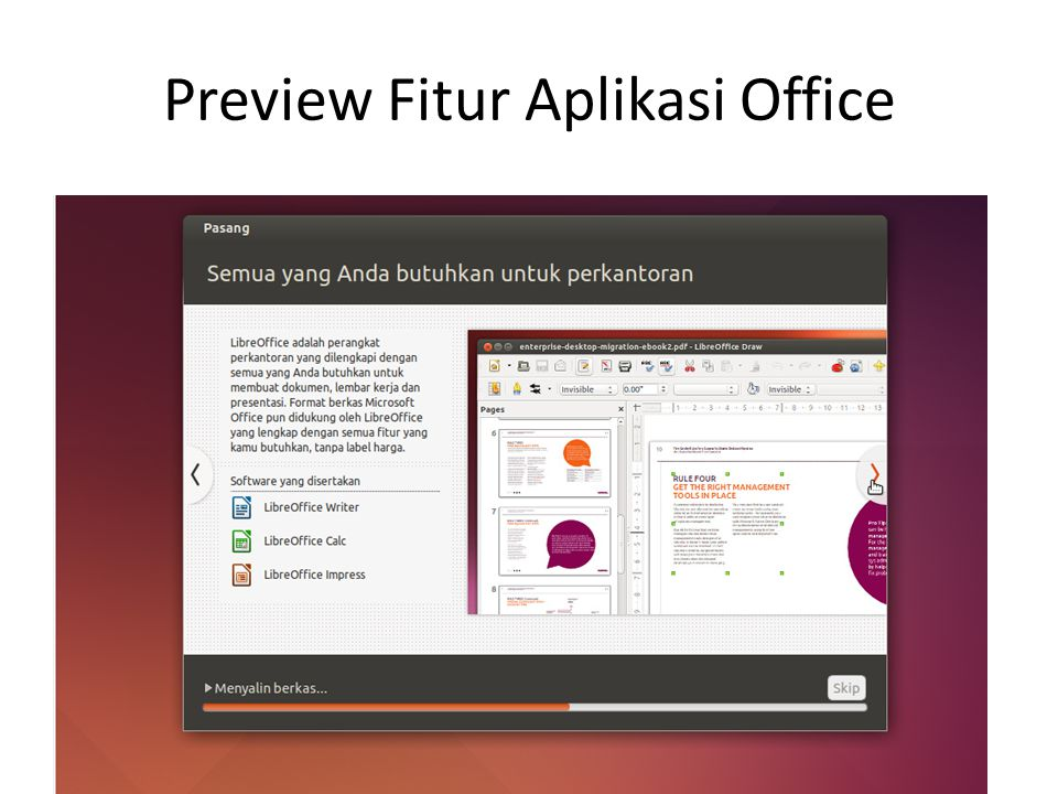 Preview Fitur Aplikasi Office