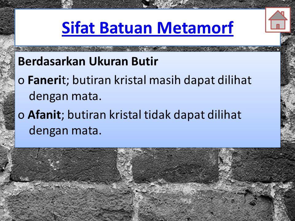 Sifat Batuan Metamorf