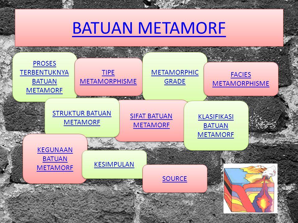 BATUAN METAMORF PROSES TERBENTUKNYA BATUAN METAMORF METAMORPHIC GRADE