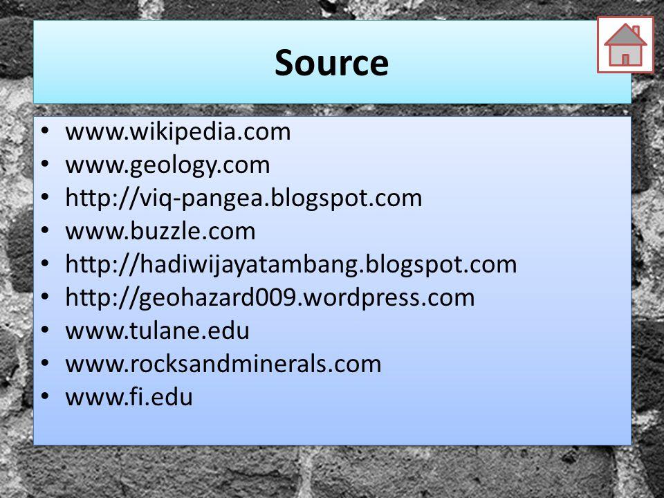 Source www.wikipedia.com www.geology.com