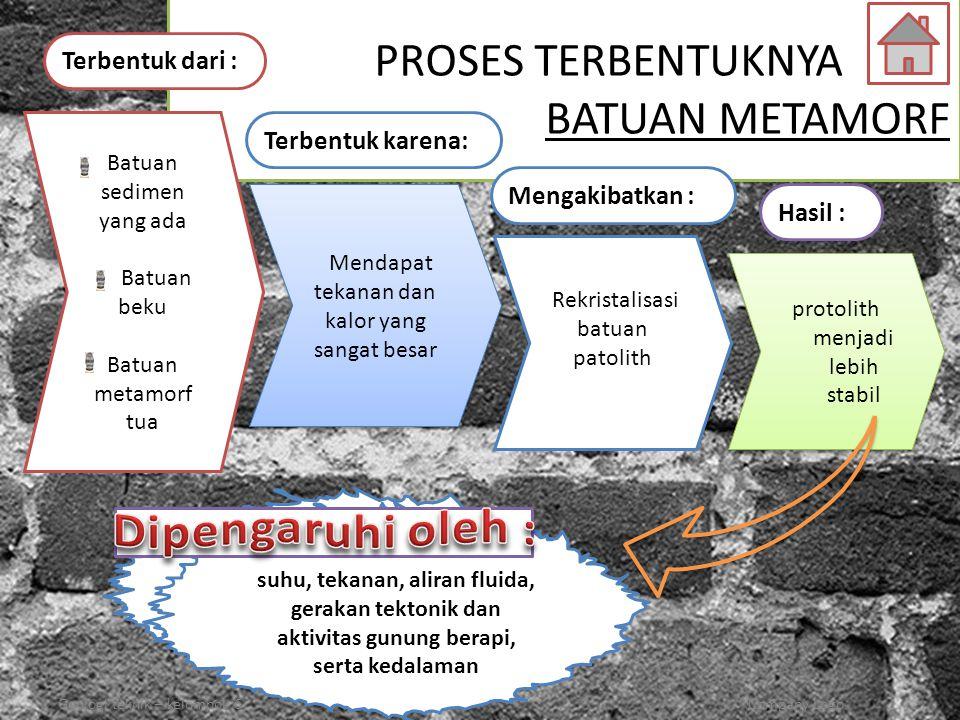 suhu, tekanan, aliran fluida, aktivitas gunung berapi,