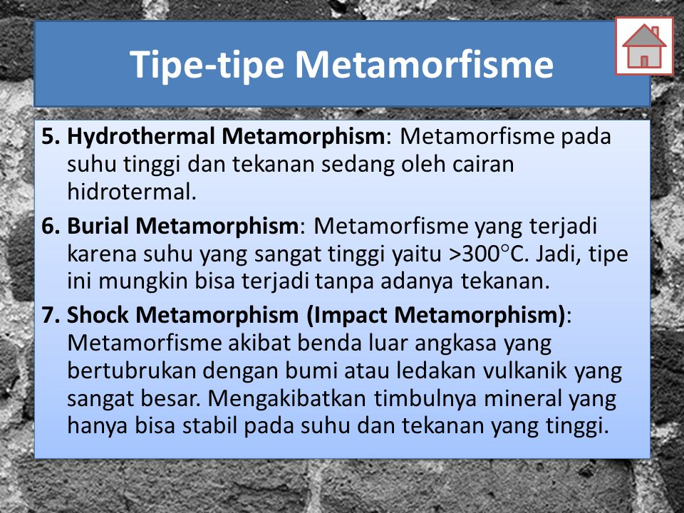 Tipe-tipe Metamorfisme