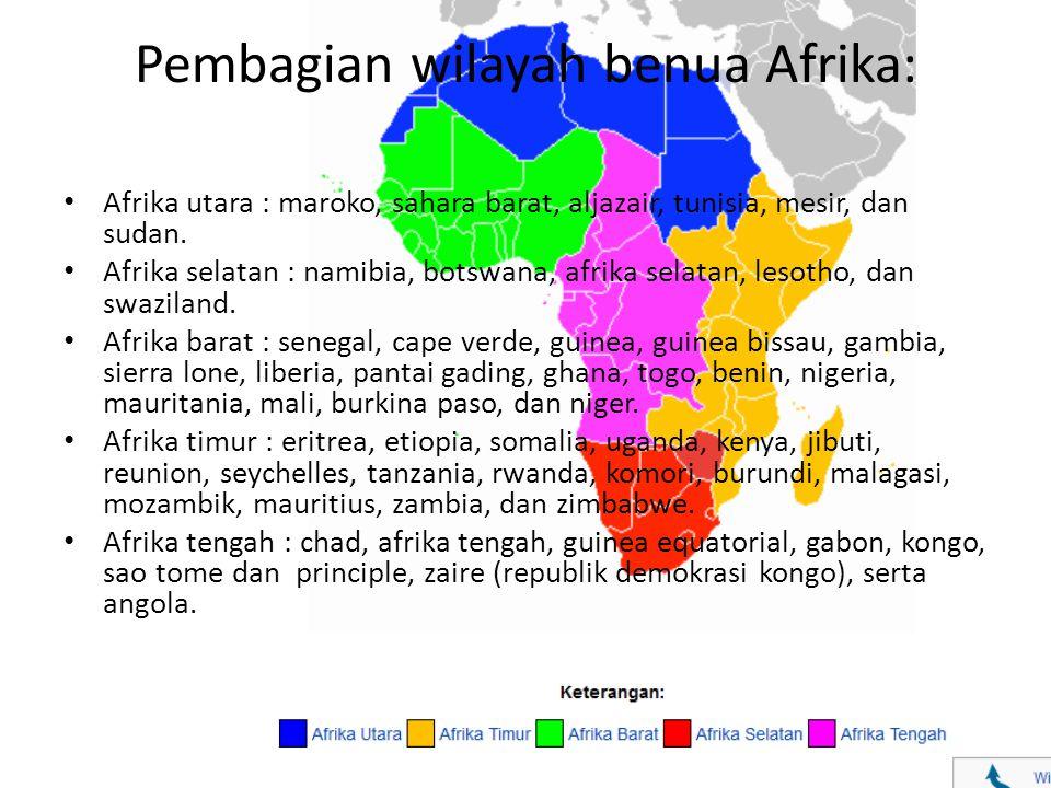 Pembagian wilayah benua Afrika: