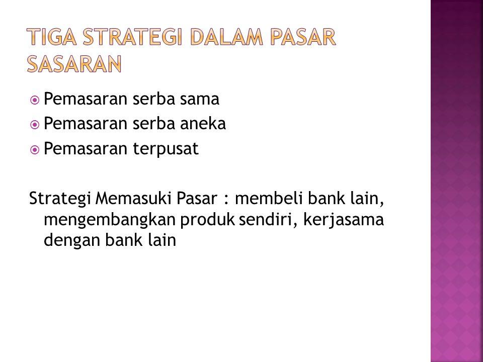 Tiga strategi dalam Pasar sasaran