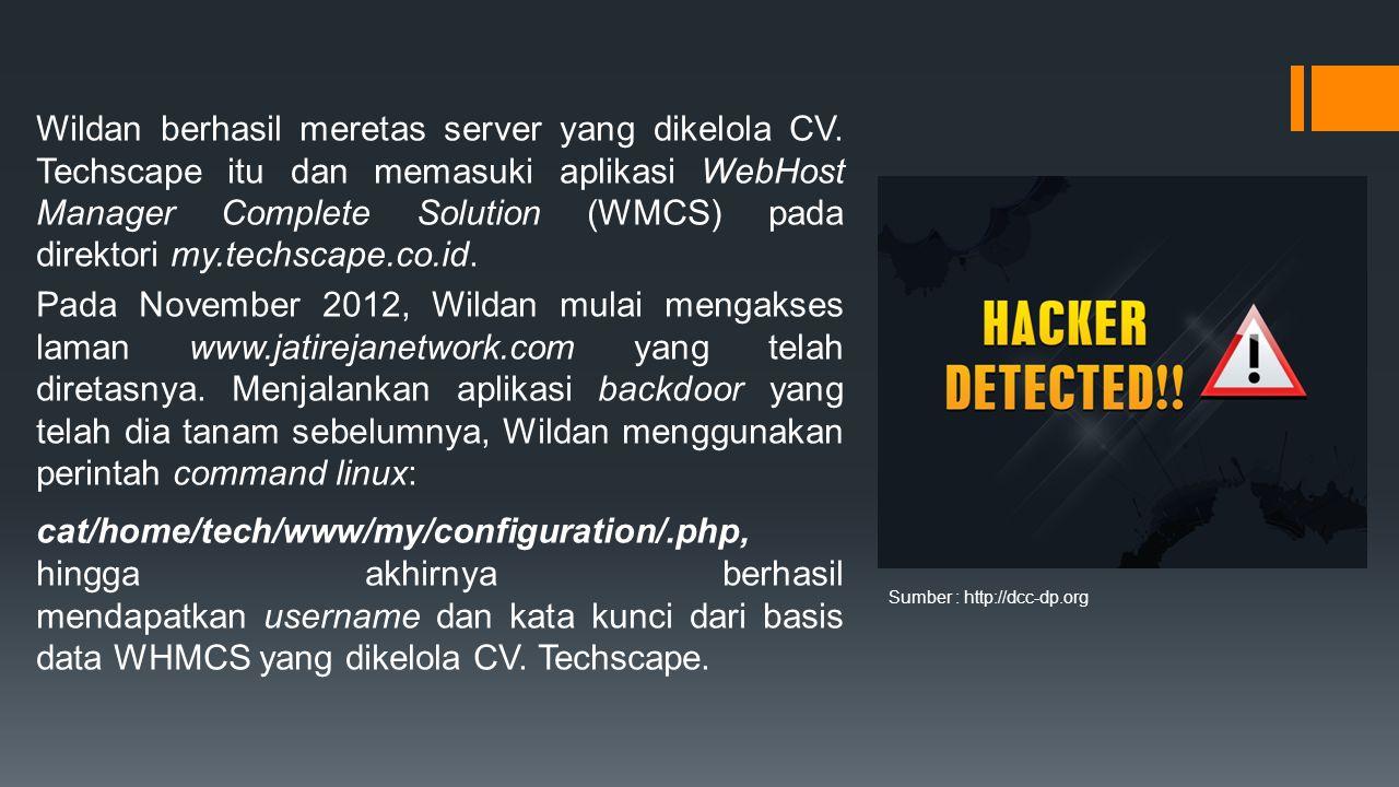 Wildan berhasil meretas server yang dikelola CV