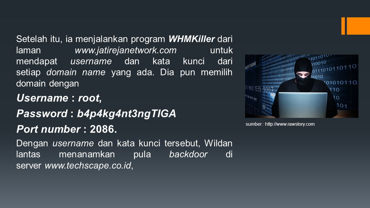 Password : b4p4kg4nt3ngTIGA Port number : 2086.