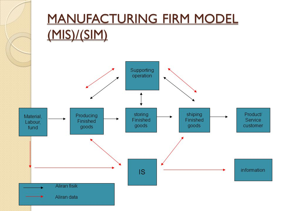 MANUFACTURING FIRM MODEL (MIS)/(SIM)