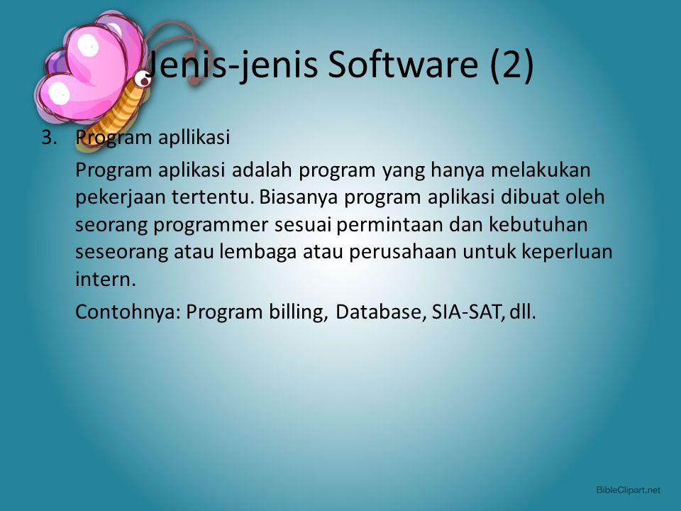 Jenis-jenis Software (2)
