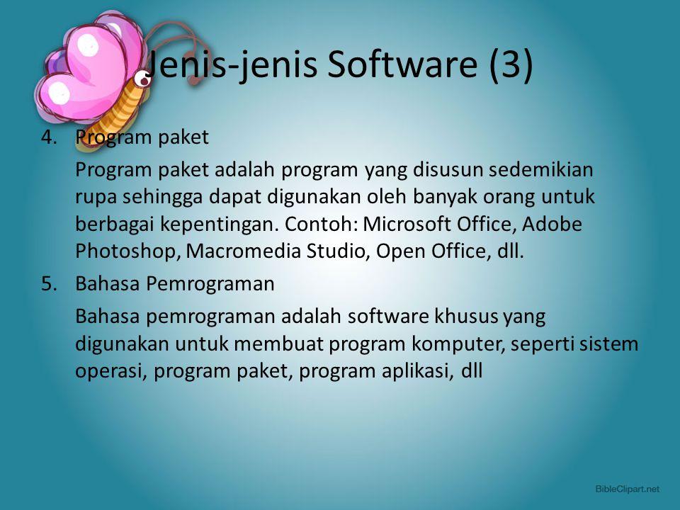 Jenis-jenis Software (3)