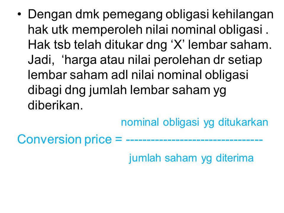Conversion price = ---------------------------------
