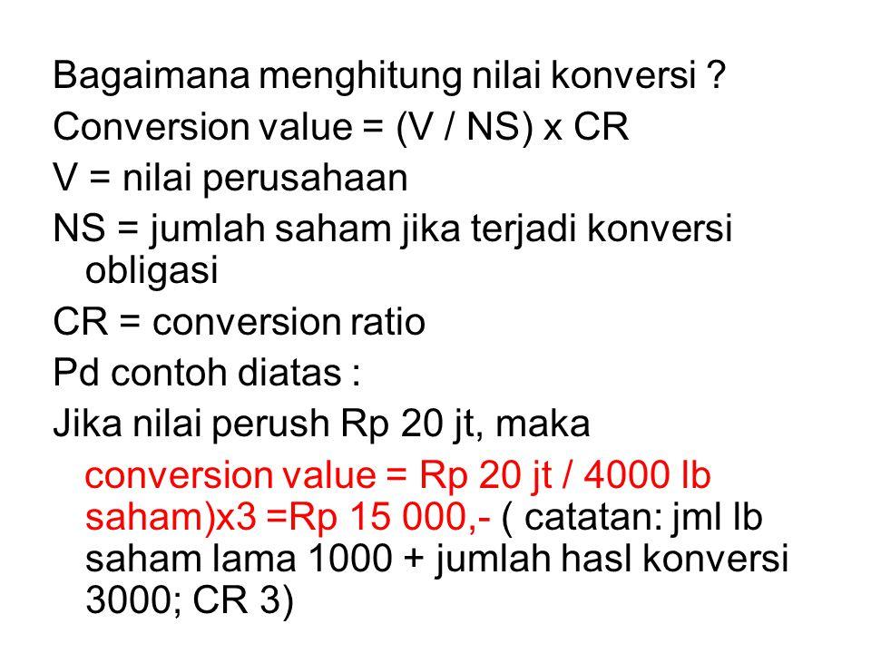 Bagaimana menghitung nilai konversi