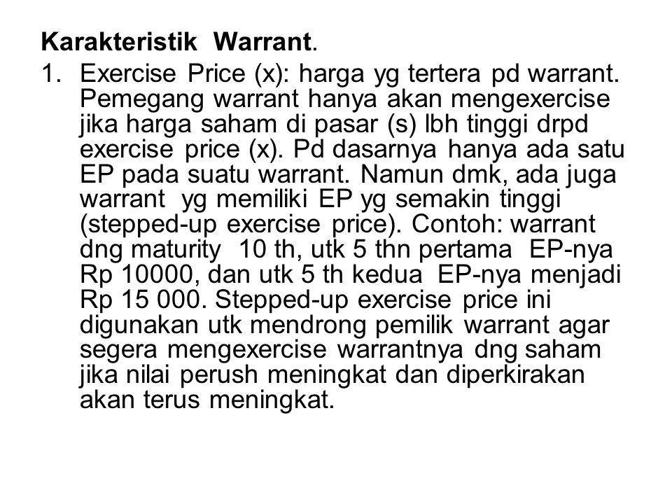 Karakteristik Warrant.