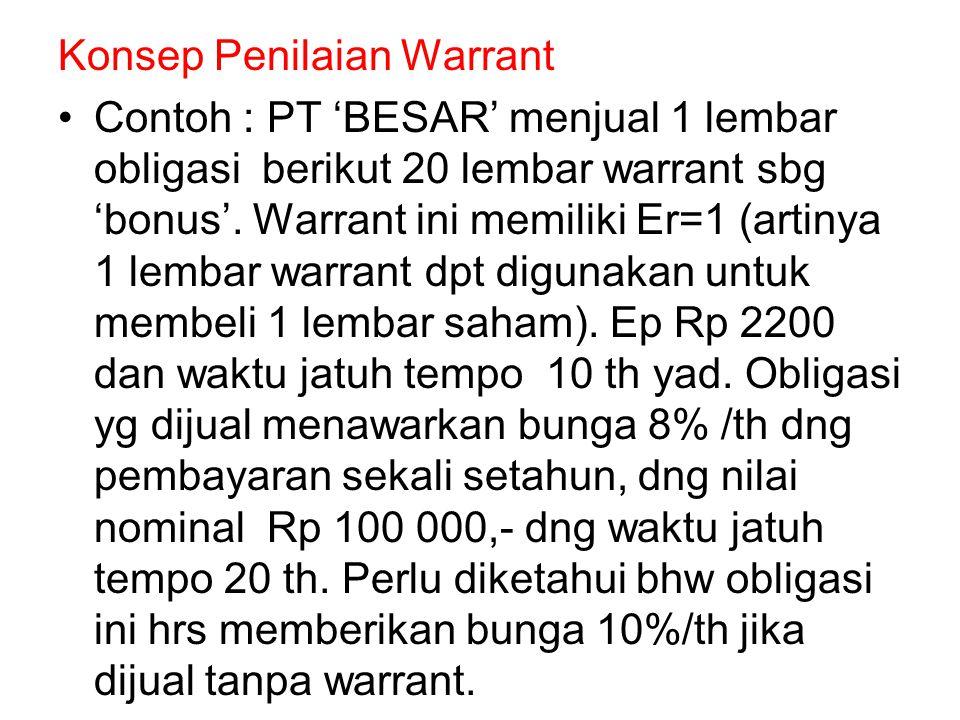 Konsep Penilaian Warrant