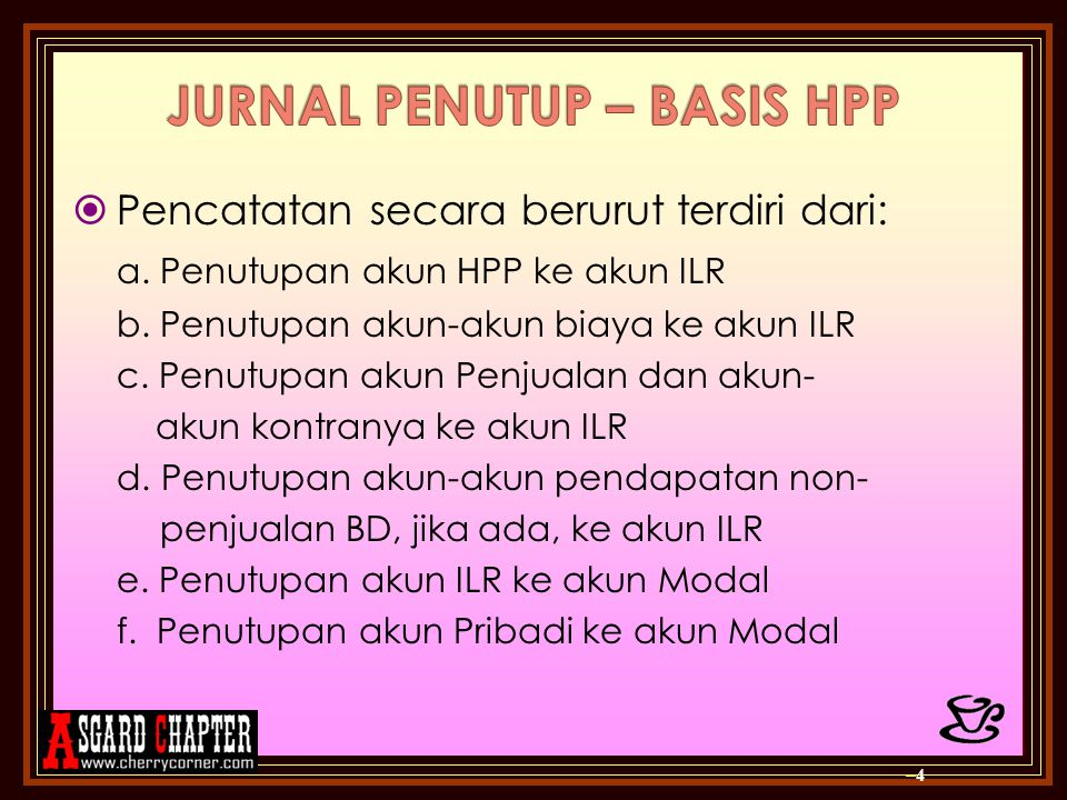 JURNAL PENUTUP – BASIS HPP