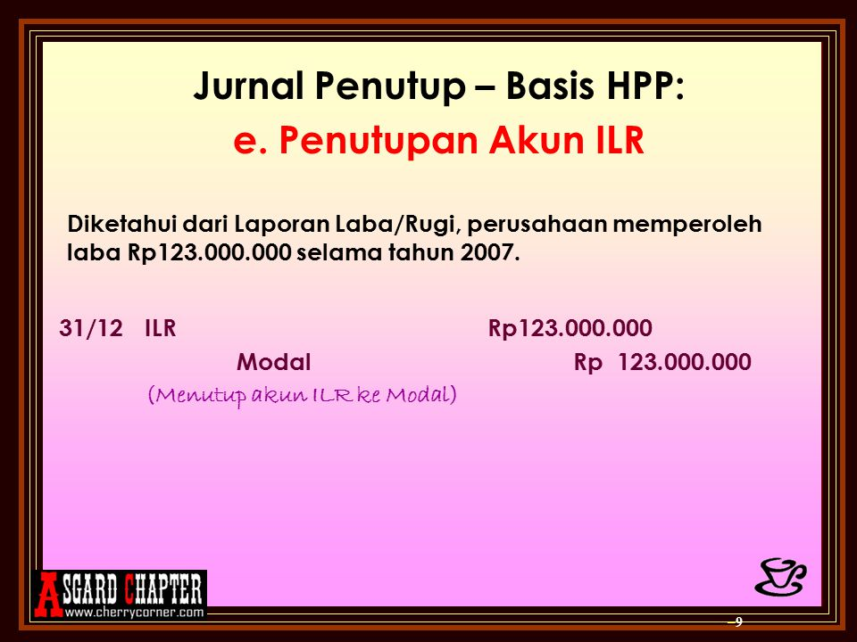 Jurnal Penutup – Basis HPP: