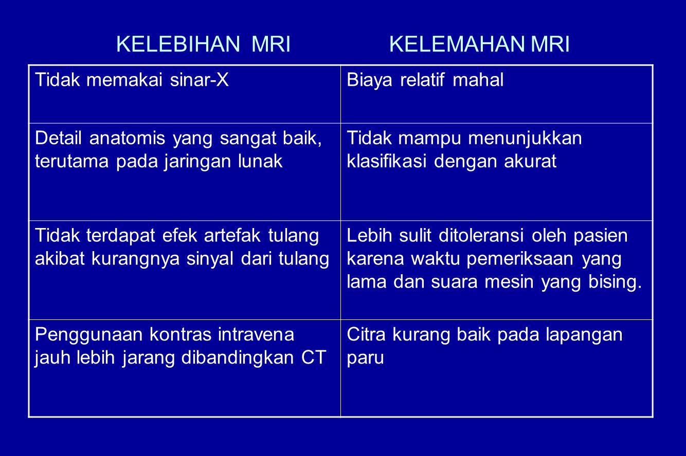 KELEBIHAN MRI KELEMAHAN MRI