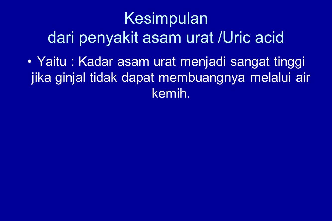 Kesimpulan dari penyakit asam urat /Uric acid