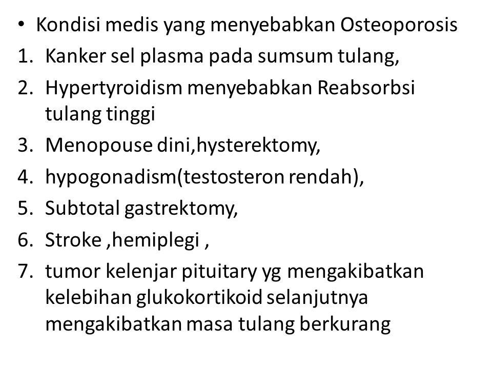 Kondisi medis yang menyebabkan Osteoporosis