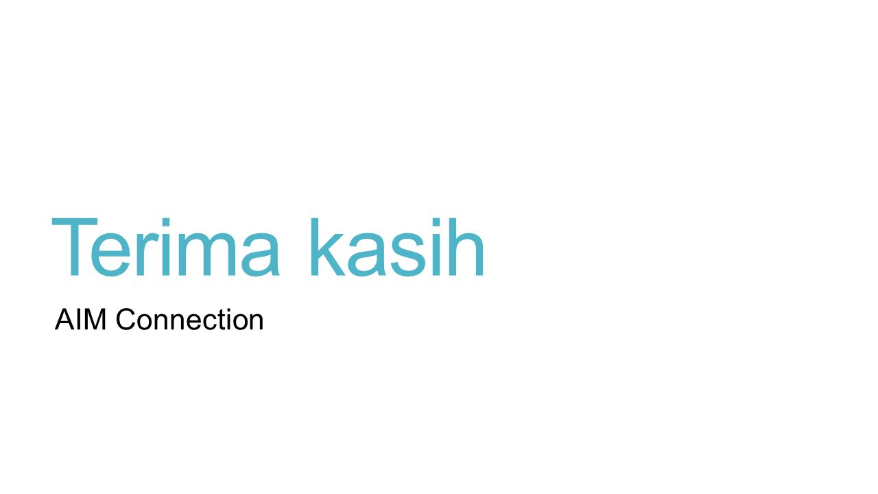 Terima kasih AIM Connection