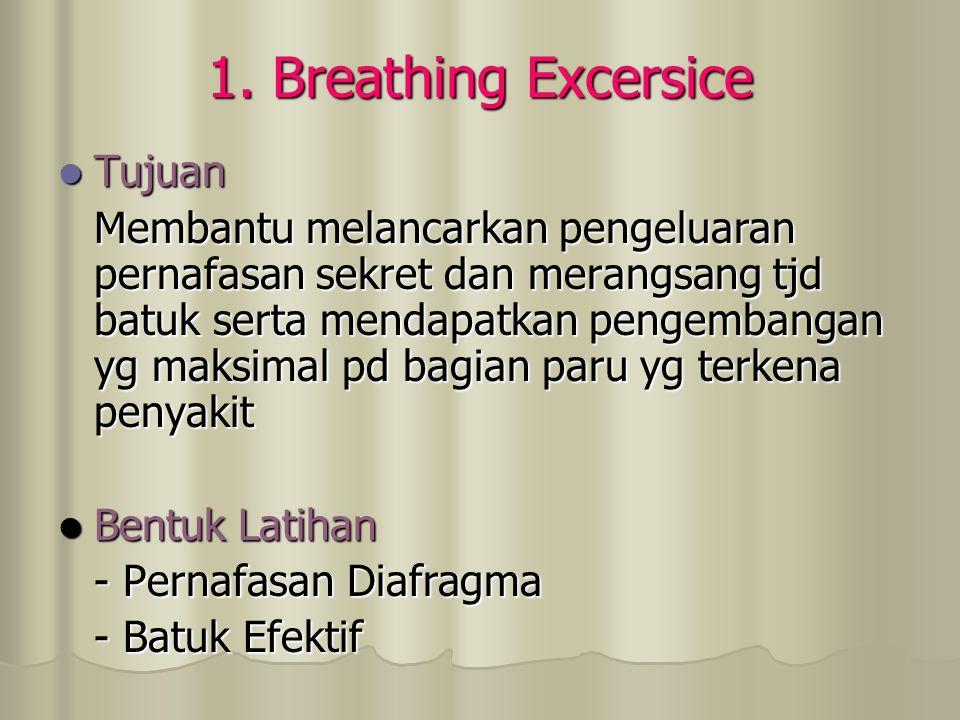 1. Breathing Excersice Tujuan