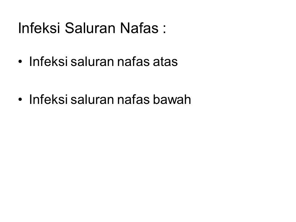 Infeksi Saluran Nafas :