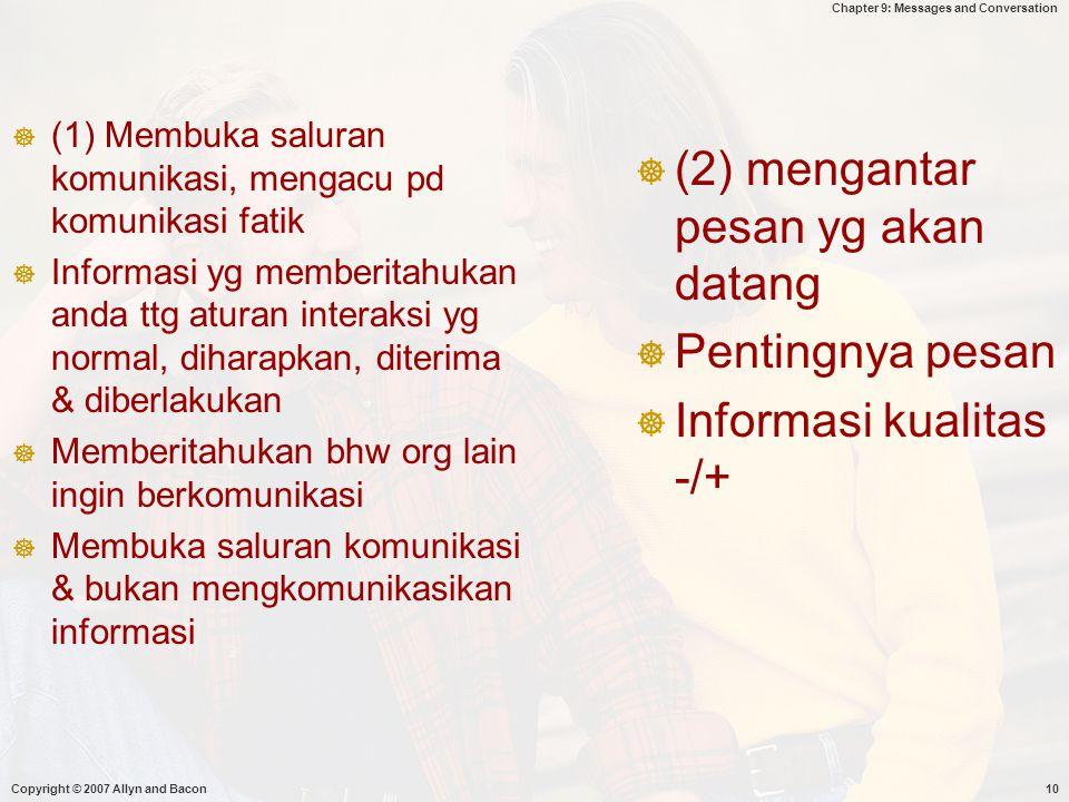 (2) mengantar pesan yg akan datang
