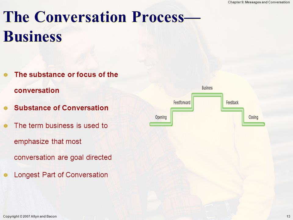 The Conversation Process—Business