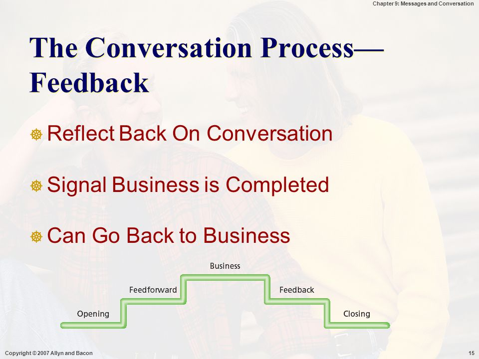 The Conversation Process—Feedback