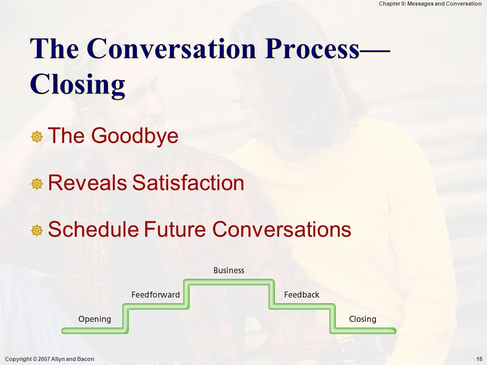 The Conversation Process—Closing