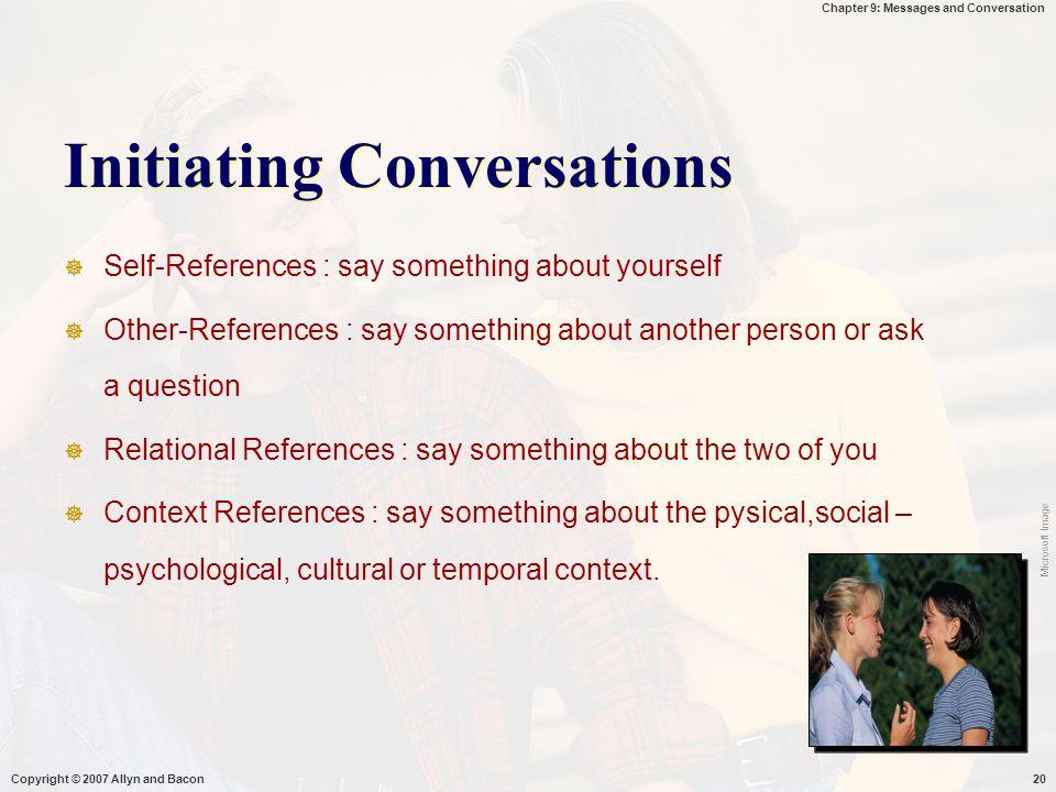 Initiating Conversations