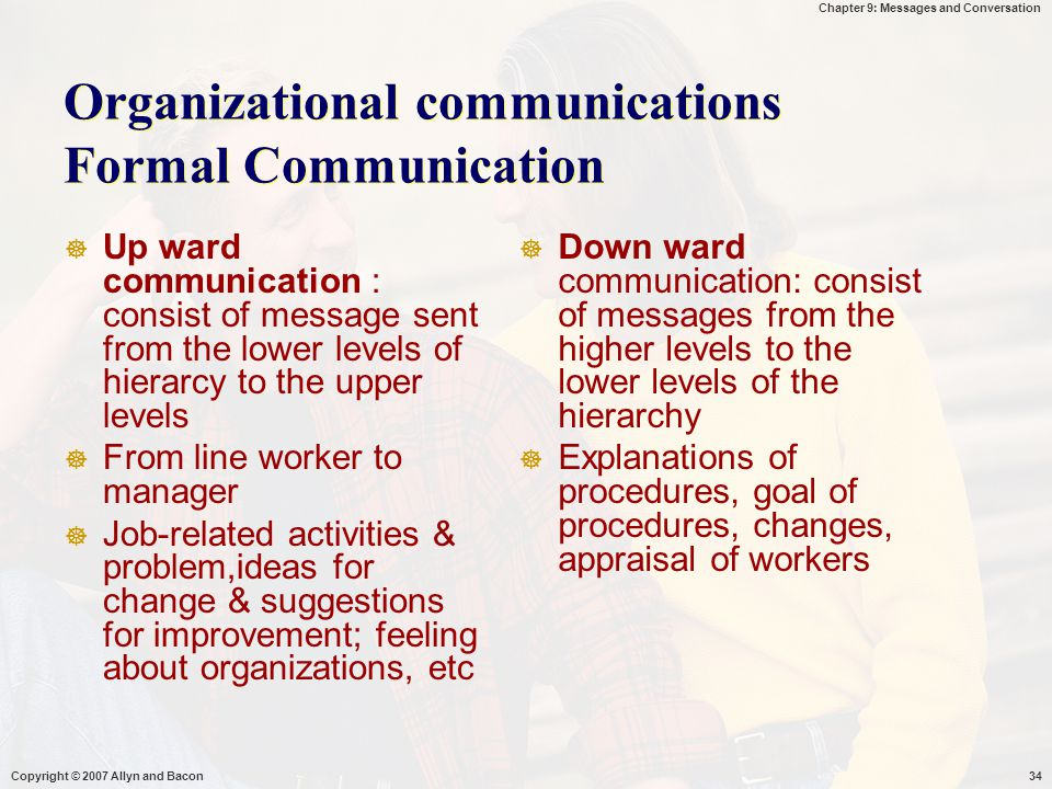 Organizational communications Formal Communication
