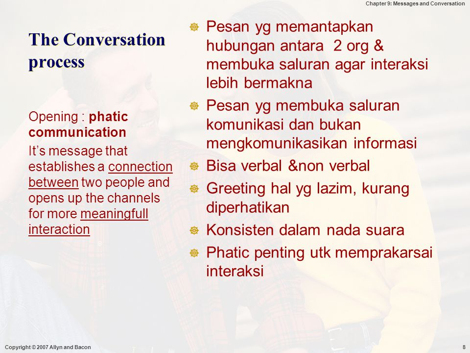 The Conversation process