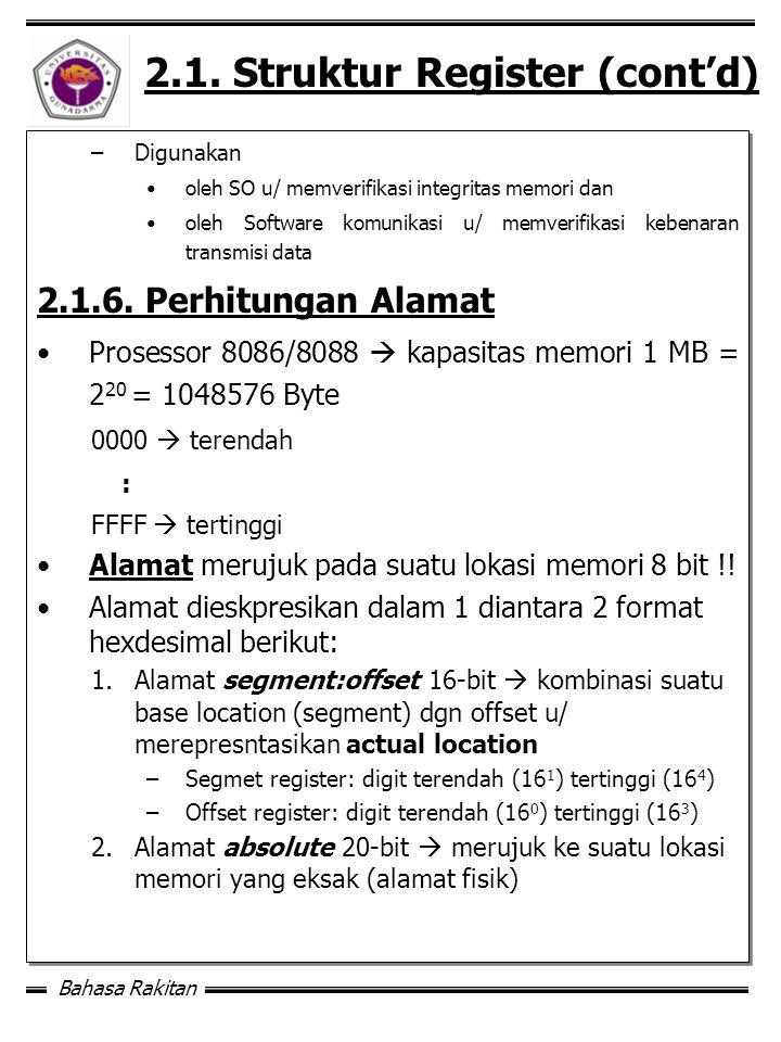 2.1. Struktur Register (cont'd)